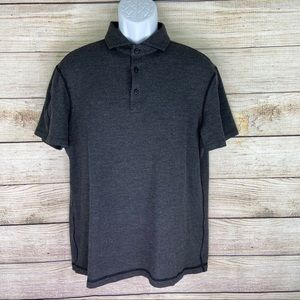 Lululemon Mens Size Medium Gray Short Sleeve Polo